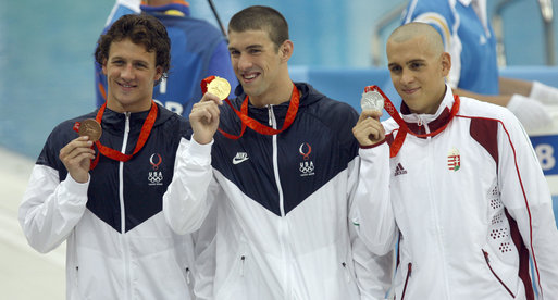 Michael Phelps and teammates