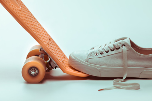 penny skateboard and shoe