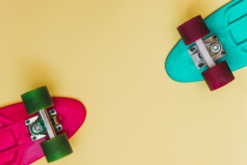 two penny skateboards